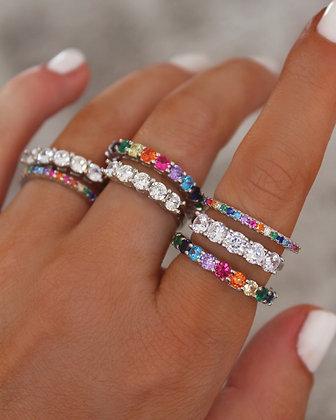Anéis Zircões Prata 925