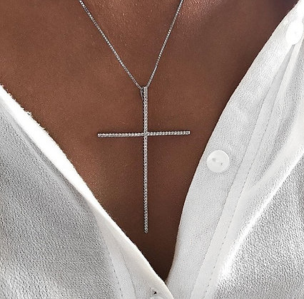 Colar com Crucifixo Prata 925