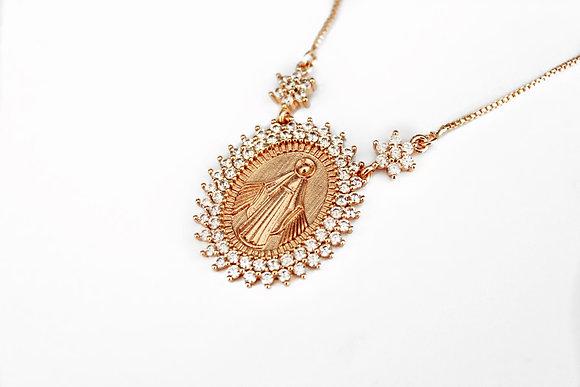 Medalha de Nossa Senhora Ouro Rosa JOYARD