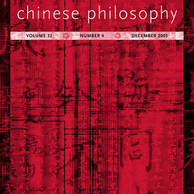 Journal of Chinese Philosophy
