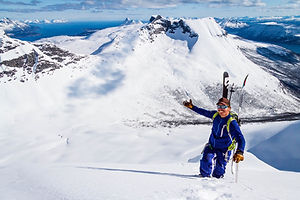 Topptur Skitouring Riksgränsen Narvik