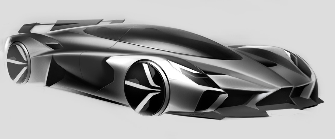 Front Right Side View Drawing Silver