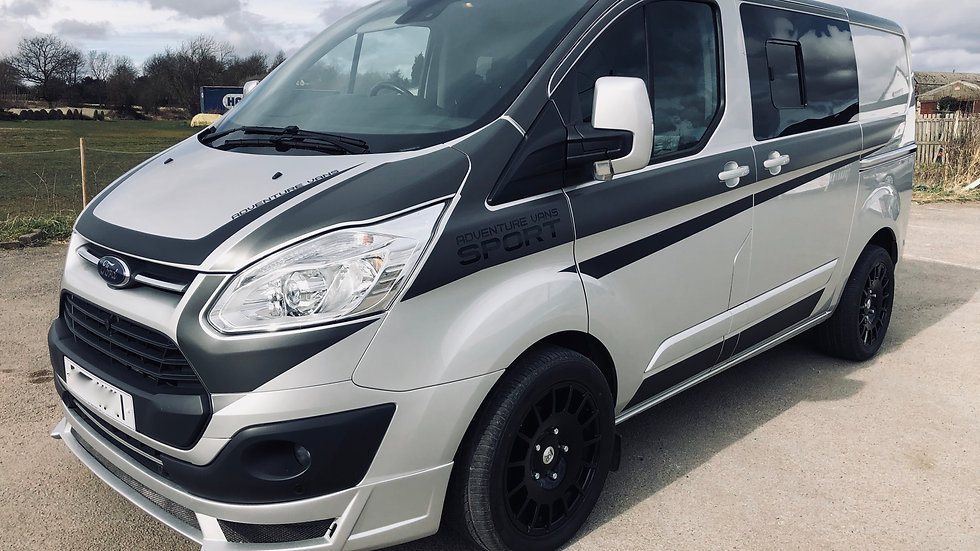 Silver ford transit custom Limited 6 seat RS Sport kit