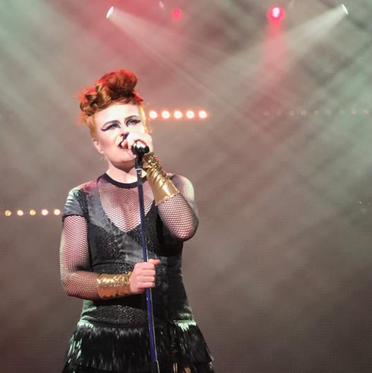 "Rachel singing ""Black Velvet"" - see her performance reel at 5:00 for a sample. AIDA cruises."
