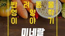 알파벳과 펫츄가 함께하는 반려동물 영양학 시리즈 - 영양학 이야기 5. 미네랄