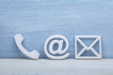 Close-up Of A Phone, Email and Post Icon