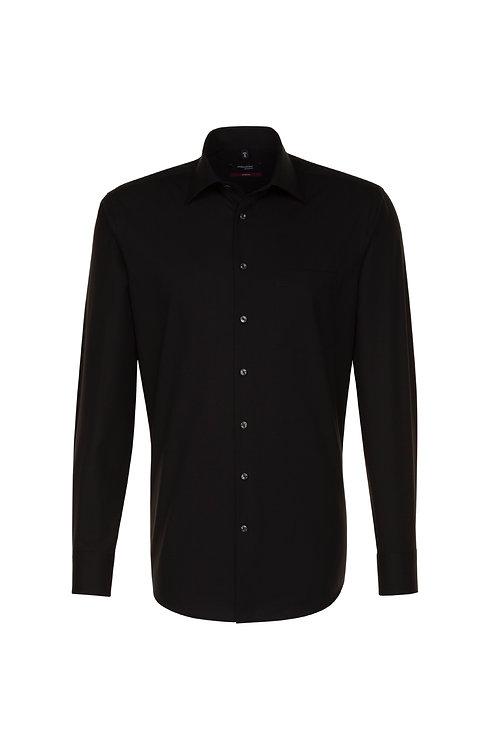 Seidensticker - Langarm Hemd modern fit schwarz NOS bis 6XL