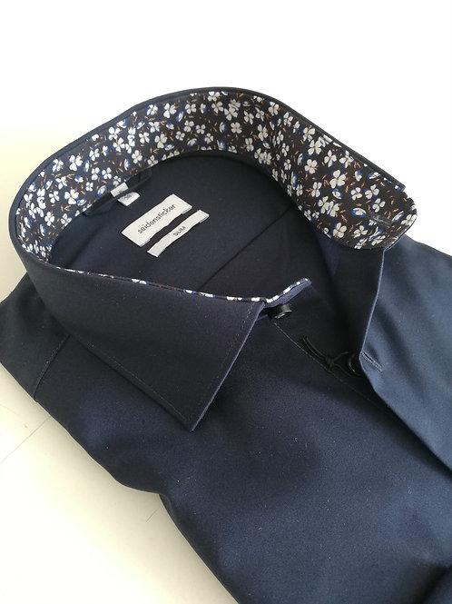Seidensticker Hemd 38 slim dunkelblau P12