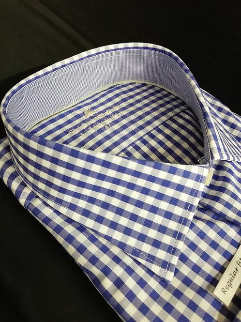 EINHORN Hemd regular Fit blau-weiß Karo Langarm ab 3XL