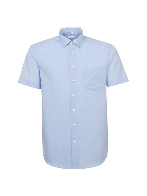 Seidensticker - Halbarm Hemd hellblau modern fit