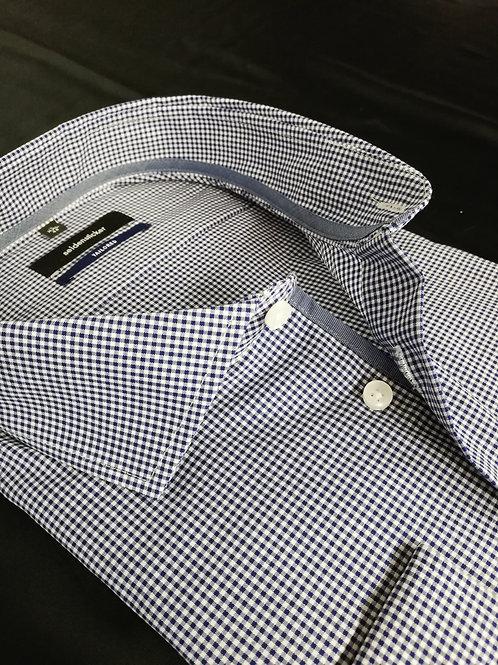Seidensticker - Hemd shaped Fit Karo dunkelblau/weiß P3