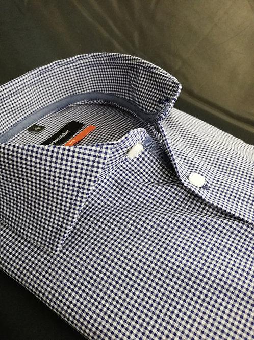 Seidensticker Hemd slim karo blau