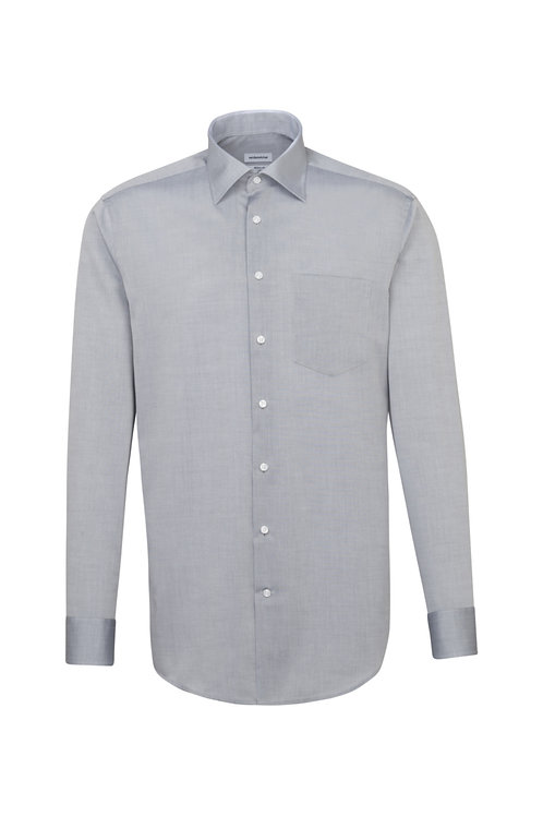 Seidensticker - Langarm Hemd modern Fit grau NOS