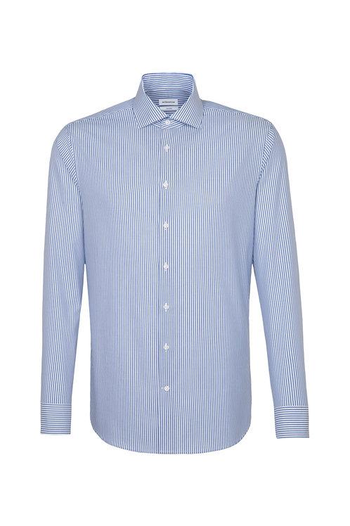 Seidensticker - Hemd blau Streifen shaped