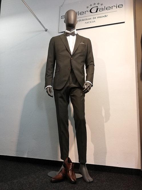 Cavaliere Anzug, olivegreen, Schurwolle (Barberis), modern fit, 2-teilig