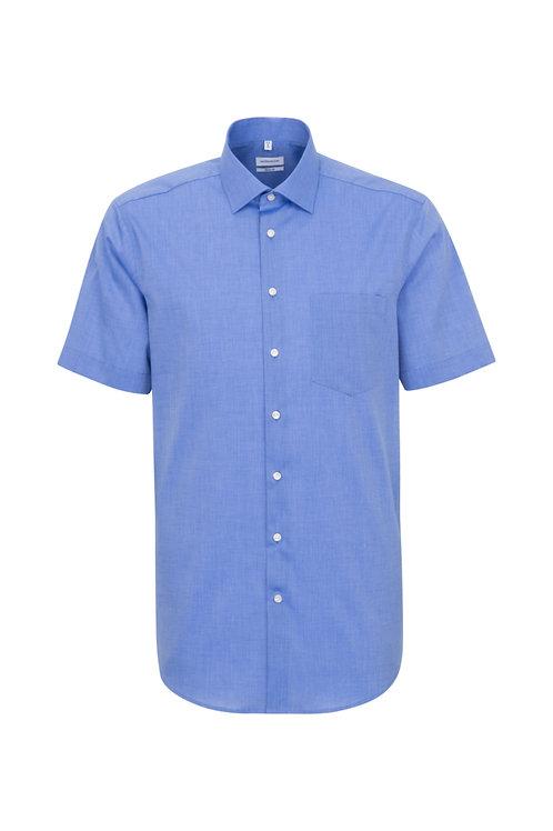 Seidensticker - Halbarm Hemd mittellblau modern fit