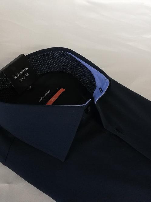 SEIDENSTICKER Hemd slim dunkelblau