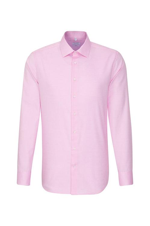 Seidensticker - Hemd shaped rosa Minimalstruktur