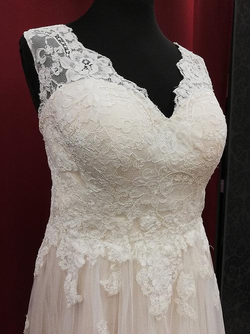 Brautkleid 48, SC-5321 ivory-nude