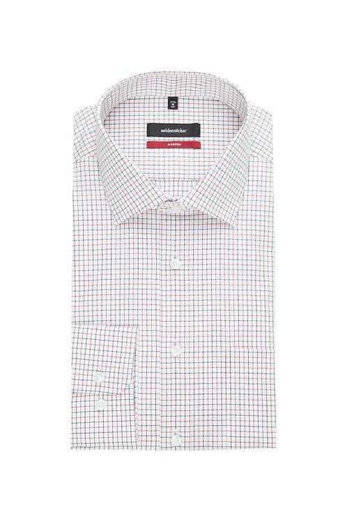 Seidensticker - Langarm Hemd modern fit Karo rot/schwarz