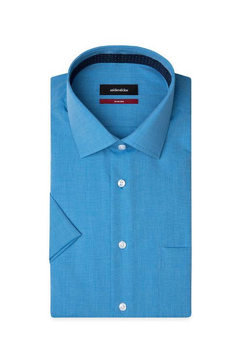 Seidensticker - Halbarm Hemd blau modern Fit