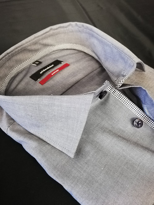 Seidensticker Langarm Hemd modern Fit blaugrau P3
