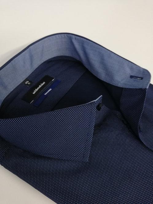 Seidensticker - Hemd ELA 71 cm shaped blau Punkte weiß P12