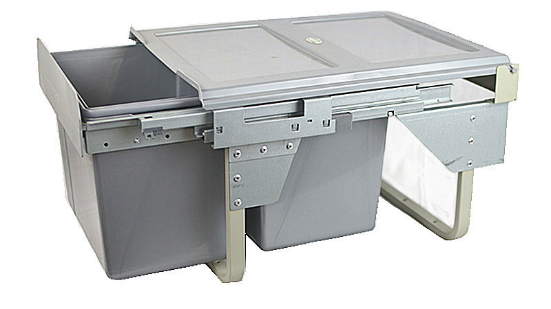 801005 - Soft Closing Pull Out Garbage Bins-Under Sink Type