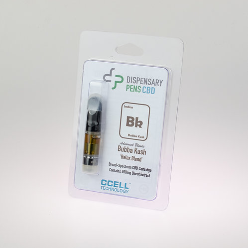 Wholesale Kush 'Relax - Blend' Broad Spectrum CBD Distillate Cartridge