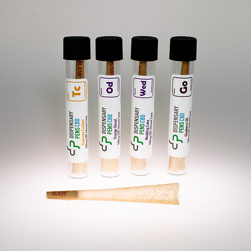 Wholesale 100mg CBD & Terpene Infused Cone 5-Pack