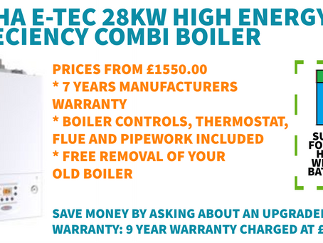 NEW PROMOTIONAL OFFER: ALPHA E-TEC 28KW HIGH EFFICIENCY COMBI BOILER