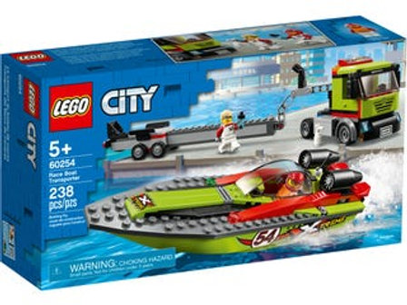 LEGO  City - Le transport du bateau de course