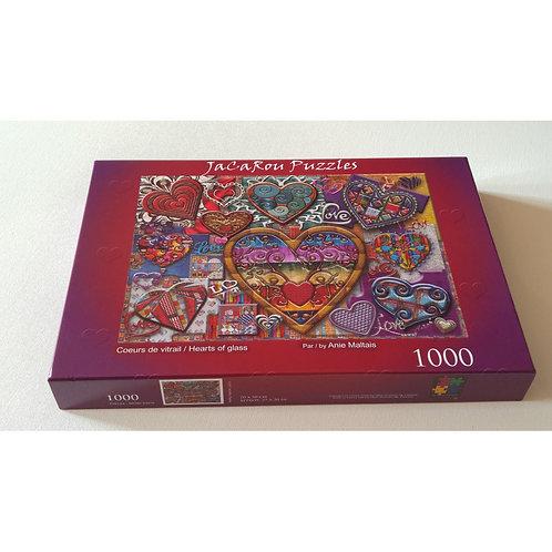 Jacarou - Coeurs de vitrail 1000 pcs