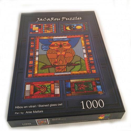 Jacarou - Hibou en vitrail 1000 pcs