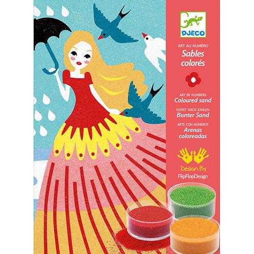 Djeco - Sables colorés / Belles en balade