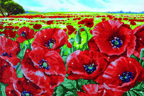 Diamond Dotz - Red Poppy Field