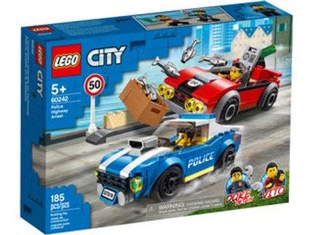 LEGO  City - La course-poursuite sur l'autoroute