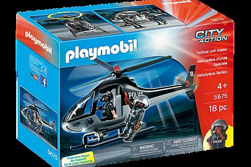 Playmobil - Hélico Unité spécial