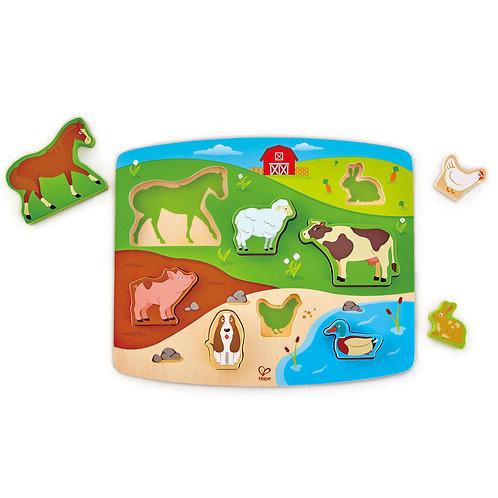 Hape - Puzzle et jeu animaux de la ferme