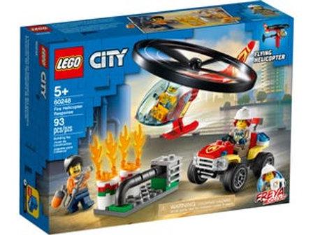 LEGO  City - L'intervention de l'hélicoptère des pompiers