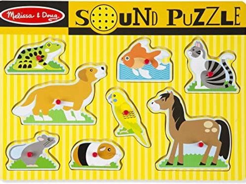 Melissa & Doug - Puzzle à boutons sonore - Animaux
