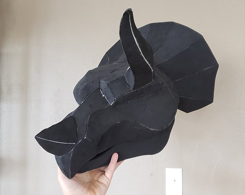Triceratops Mask Digital Pattern