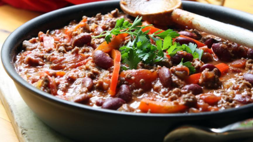 Chili con Carne en buffet