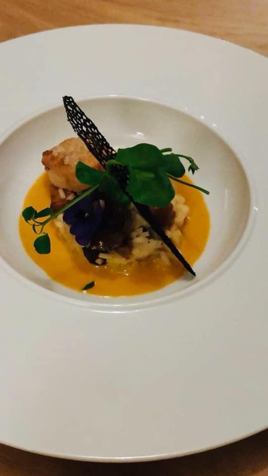 Risotto aux saint-Jacques et bisque de homard