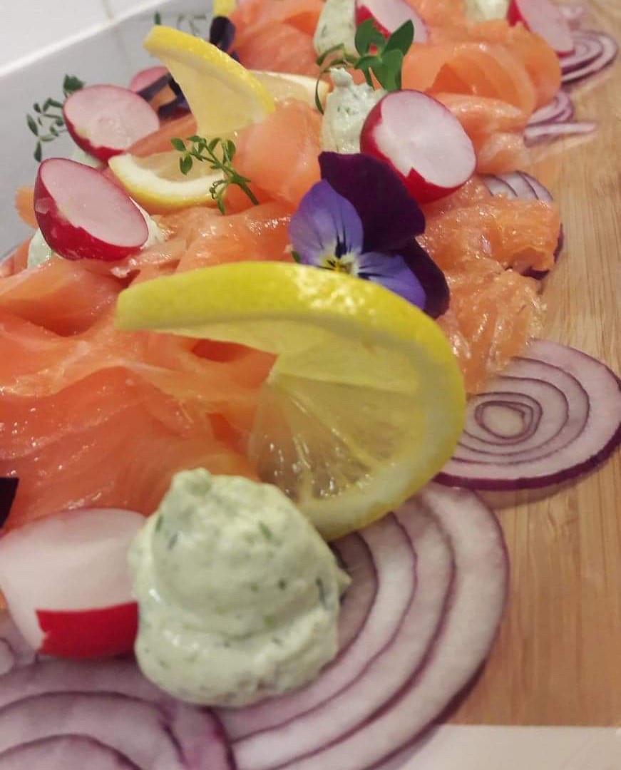 Buffet froid de saumon