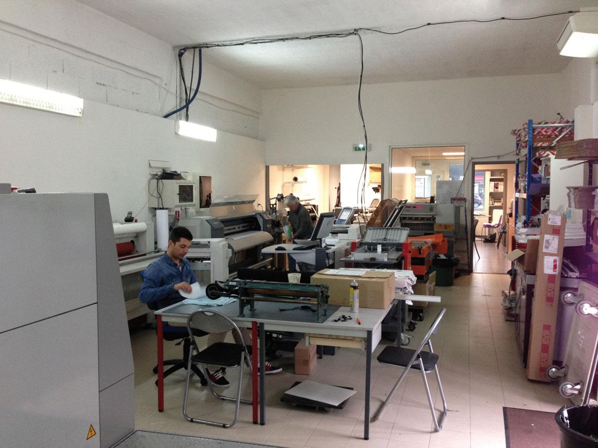 L'atelier de fabrication