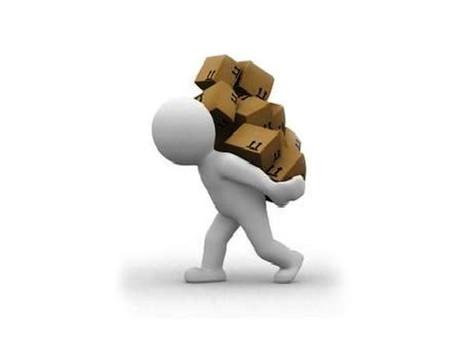 Deixe a carga! (Muitas vezes achamos que  estarmos agarrados às coisas vai nos trazer a solução...)
