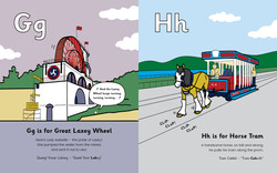 Gg is for Great Laxey Wheel, Hh is for Horse Tram