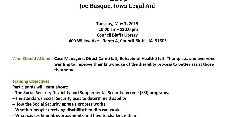 Free Training - Social Security Issues