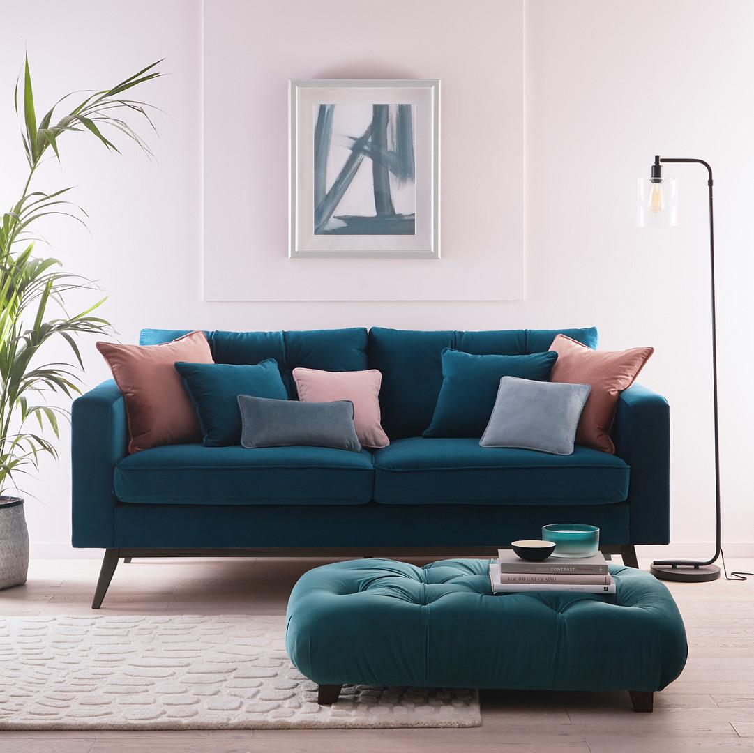 Alvar Sofa & Footstool.